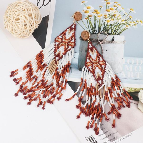 Fashion long tassel handmade earrings NHJJ142221