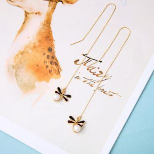 Womens insect drop oil alloy Earrings NHQD142268's discount tags