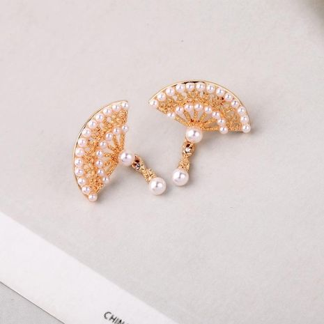 Temperament ancient fan design beads earrings NHQD142286's discount tags