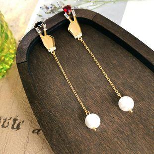Aretes pequeños de cobre con tachuelas para mujer NHQD142291's discount tags