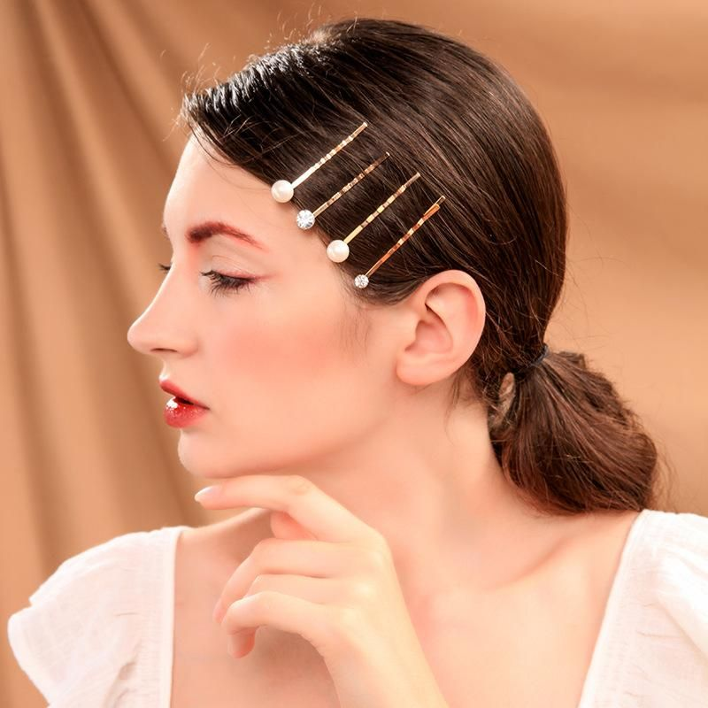 Womens Geometric Rhinestone Alloy Hair Accessories NHQD142314