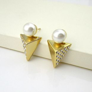 Womens Electroplating Alloy Earrings NHLJ142333's discount tags
