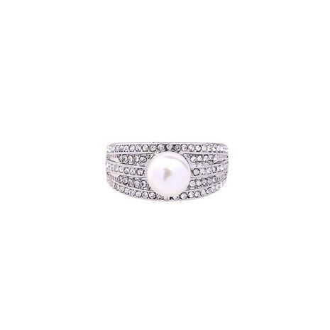Anillo de aleación de perlas de diamantes de moda NHQD142359's discount tags