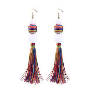 Pendientes de bolas de borla coloridas de moda NHQD142385's discount tags