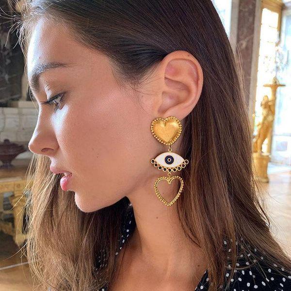 Fashion Imitated crystal Love Earrings NHOT142456