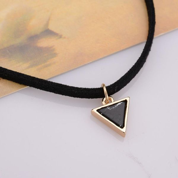 Fashion simple pattern pine flower stone necklace NHBQ142467