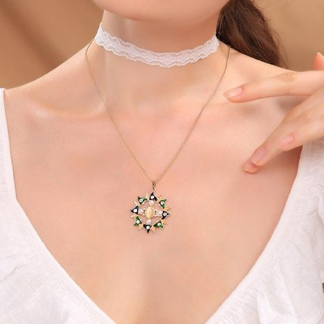 Fashion double layer cold wind lace choker NHQD142470's discount tags
