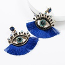 European and American acrylic rhinestone eye tassel earrings NHJE142442