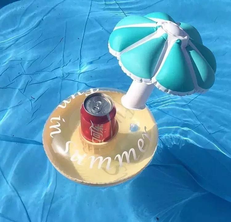 Pvc inflatable coaster two-color red and blue umbrella inflatable glass NHWW142490