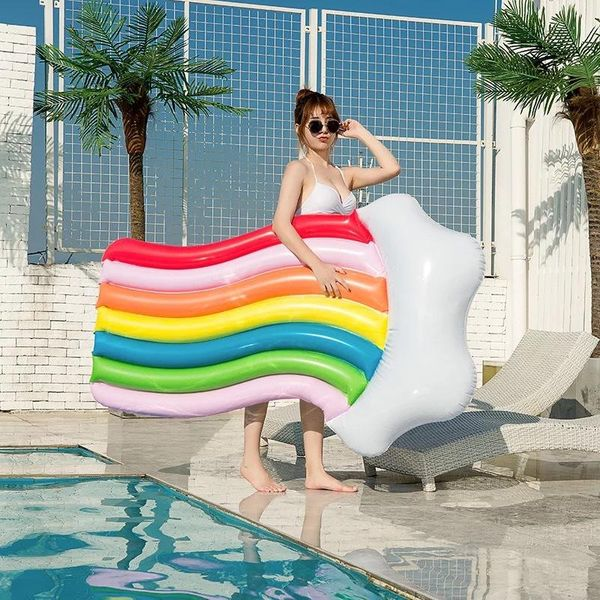 Fashion girl heart inflatable seven color floating row NHWW142491