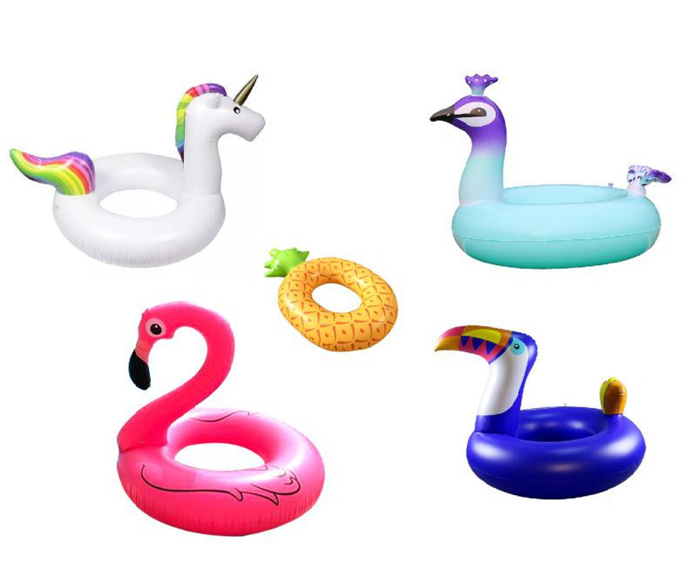 Fashion flamingo unicorn peacock inflatable swimming ring NHWW142509