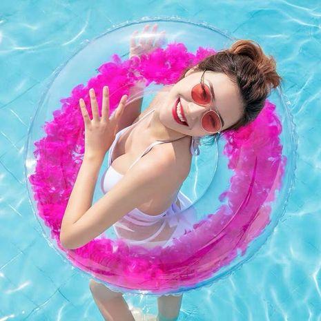 Anneau de natation transparent gonflable en PVC épais adulte NHWW142512's discount tags