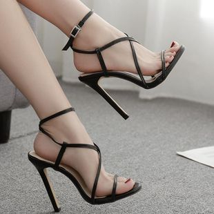 Sexy cross strap with high heel sandals NHSO142537's discount tags