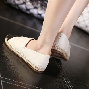 European and American new canvas flat bottom casual fisherman shoes NHHU142561's discount tags