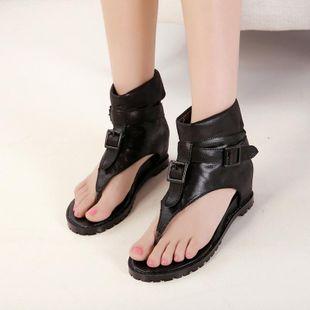Fashion pin toe belt buckle non-slip Roman  shoes NHHU142568's discount tags
