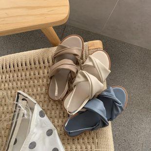 Fashion versatile flat sandals NHHU142582's discount tags