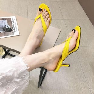 Classic comfortable snakeskin wear sandals and slippers NHHU142586's discount tags