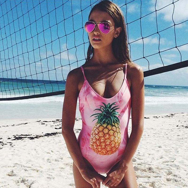 Stylish cute print one-piece bikini NHNM142627