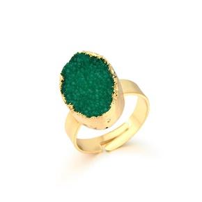 Fashion natural stone oval ring NHGO142739