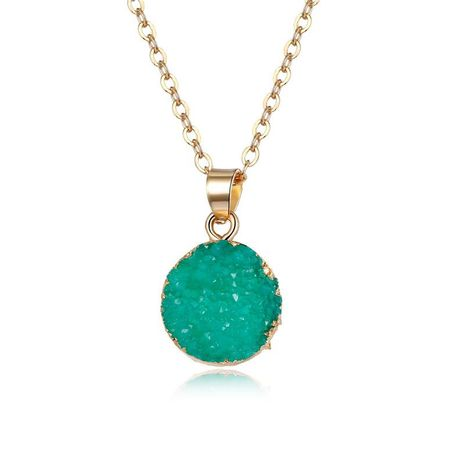 Fashion natural stone round necklace NHGO142753's discount tags