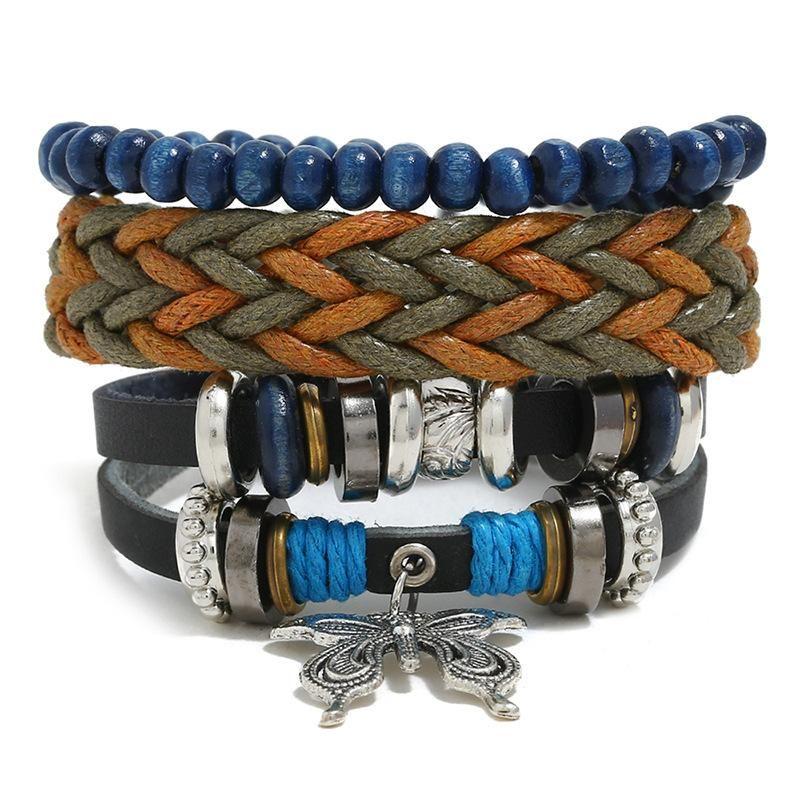 Hand-knitted leather bracelet men leather bracelet NHPK142835