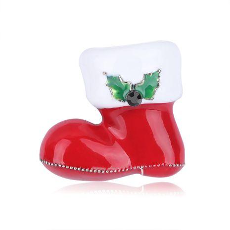 Aleación de moda Gotas pintadas Botas de Navidad Broche NHDR142855's discount tags