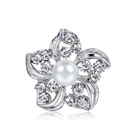 Broches de joyería Danrun de aleación de galjanoplastia floral para mujer NHDR142859's discount tags