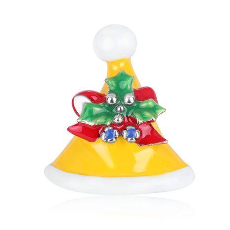 Broche de sombrero de Navidad de diamantes de goteo de colores NHDR142863's discount tags