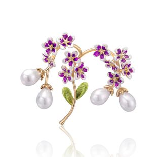 Fashion court twig alloy beads brooch NHDR142881's discount tags
