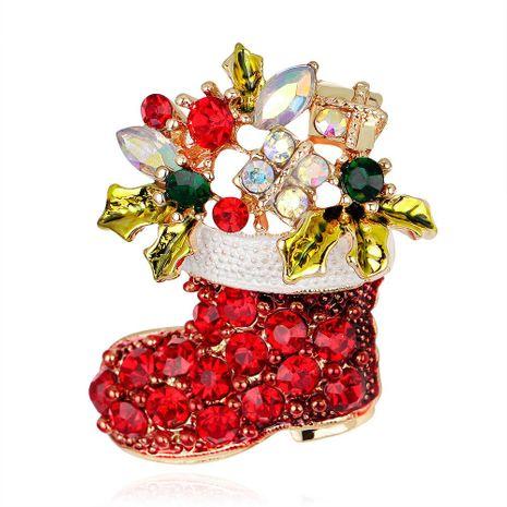 Broche de botas de Navidad de pedrería de moda NHDR142885's discount tags