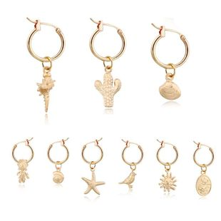 Simple cactus starfish animal plant alloy earrings NHGO142911's discount tags