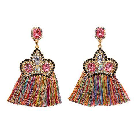 Fashion Crown Alloy Inlay Rhinestone Stud Earrings NHJQ142943's discount tags
