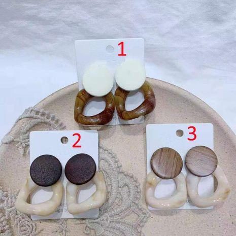 Fashion Round Wood Acrylic Geometric Round Earrings NHGO142974's discount tags