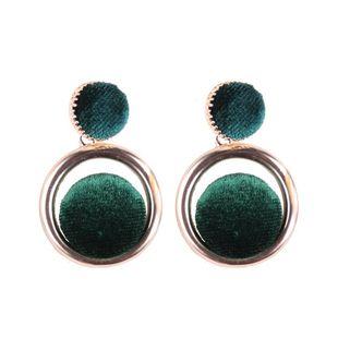 Boucles d'oreilles mode cinq couleurs rondes NHJQ142989's discount tags