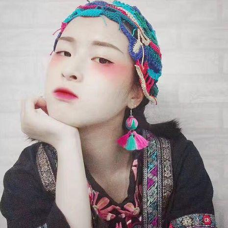 Fashion tassel 10 color flower earrings NHJQ142997's discount tags