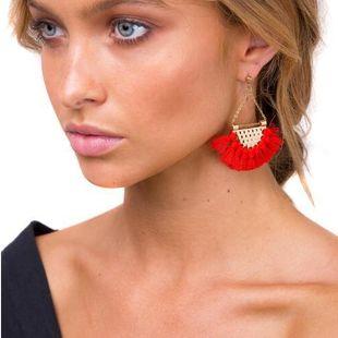 Aretes de aleación de borla de moda NHJQ143079's discount tags