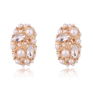 Aretes de perlas geométricas para mujer NHGO143099's discount tags
