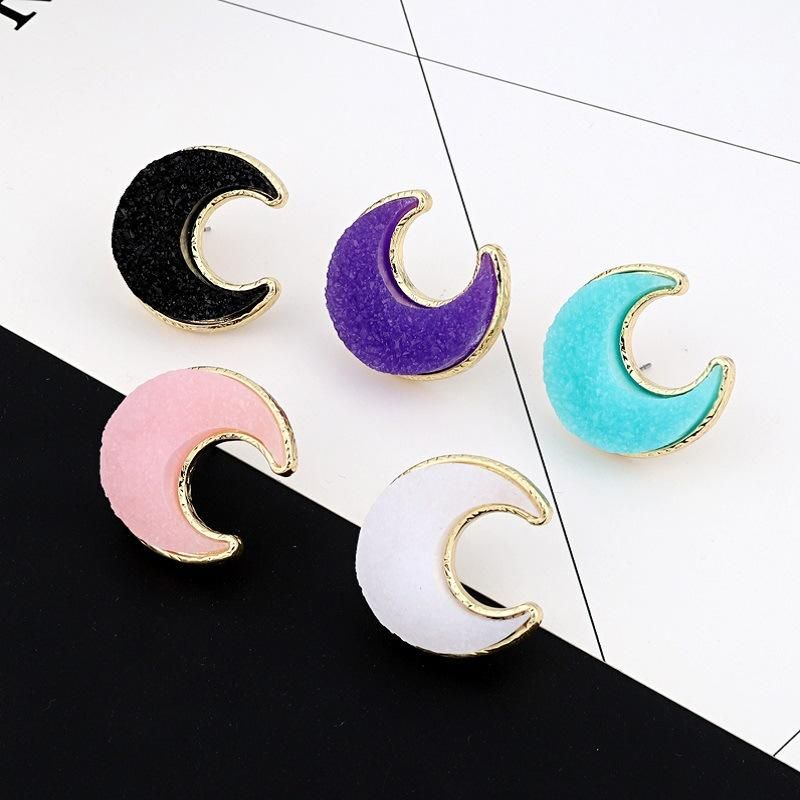 Womens Moon Resin Earrings NHGO143103