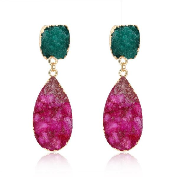 Fashion color resin earrings NHGO143189