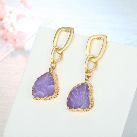 Nouvelles boucles d'oreilles en résine violette NHGO143194's discount tags
