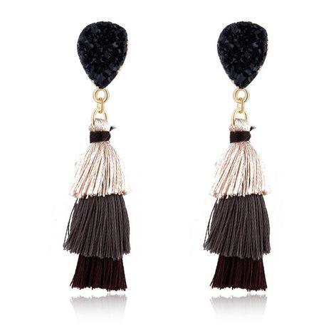 Fashion new long tassel earrings NHGO143211's discount tags