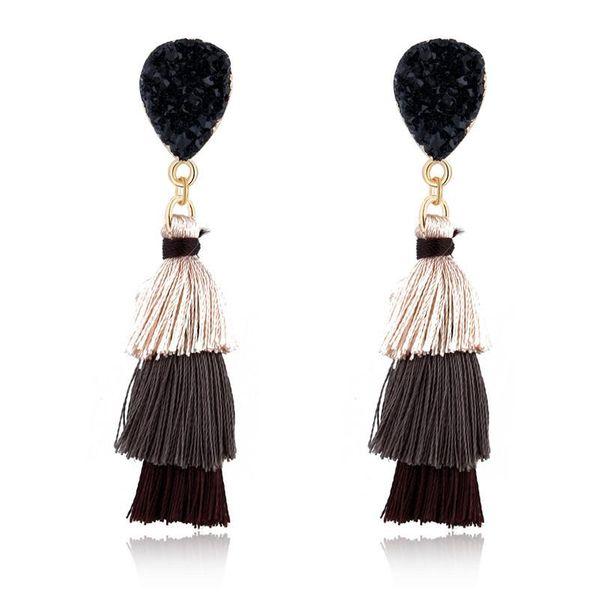 Fashion new long tassel earrings NHGO143211