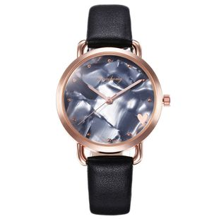 Creative peach heart shell belt quartz watch NHHK143335's discount tags
