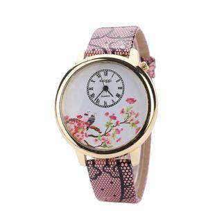 Retro minimalist Chinese style quartz watch NHHK143336's discount tags