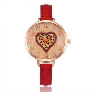 Classic brown glass heart digital student watch NHHK143345's discount tags