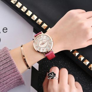 Fashion color changing lips bark belt watch NHHK143347's discount tags