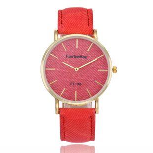 Simple scale two-needle imitation denim belt quartz watch NHHK143346's discount tags