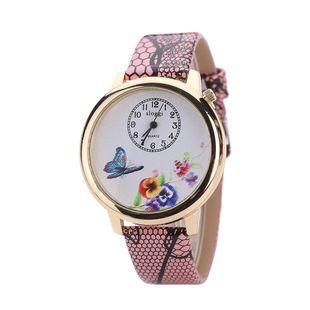 Fashion butterfly love flower belt girl watch NHHK143350's discount tags
