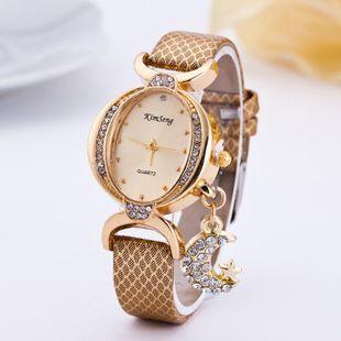Fashion oval rhinestone moon quartz watch NHSY143355's discount tags