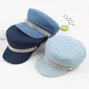 Korean version of the simple denim beret NHXO143387's discount tags